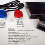 Materialübersicht Inkbird ITC-100F Temperatursteuerung
